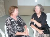 Two of the Steering Committee take time out for a chat at a Volunteers Network Exchange afternoon